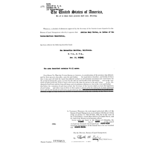Click this thumbnail for a full view of Indian Trust Patent